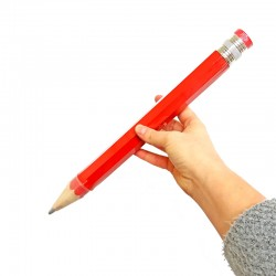 Christmas gift ideas for men and women: Giant pencil in red colour