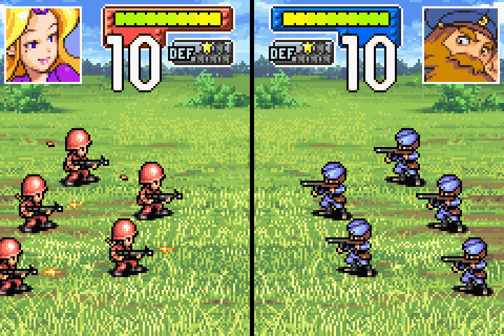 Best gba title Advance Wars. Great fun in battle on a Gameboy Advance SP