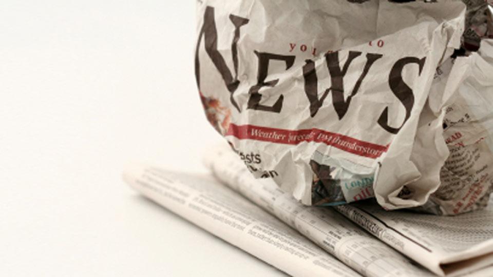 Newspaper-Wrinkled