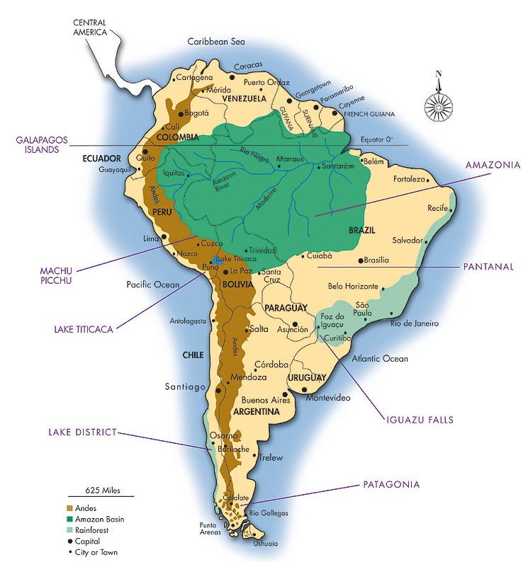 V Energy Drink: Map of South America showing Amazon region