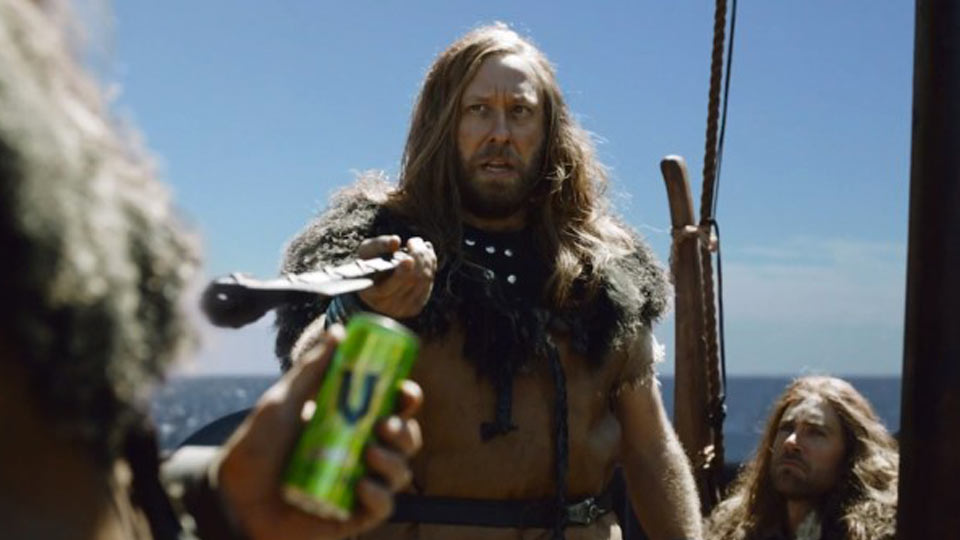 V Energy Drink Viking Campaign