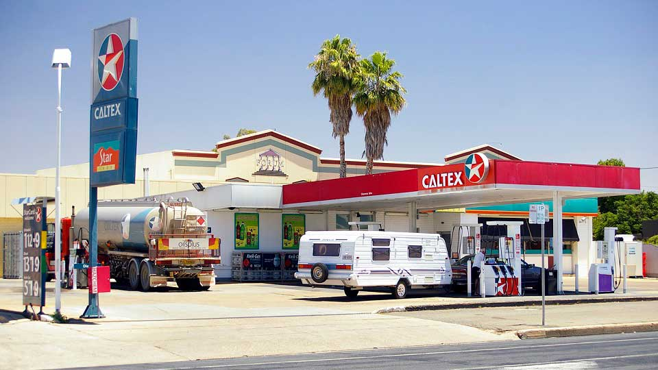 Caltex with energy drink advertisement