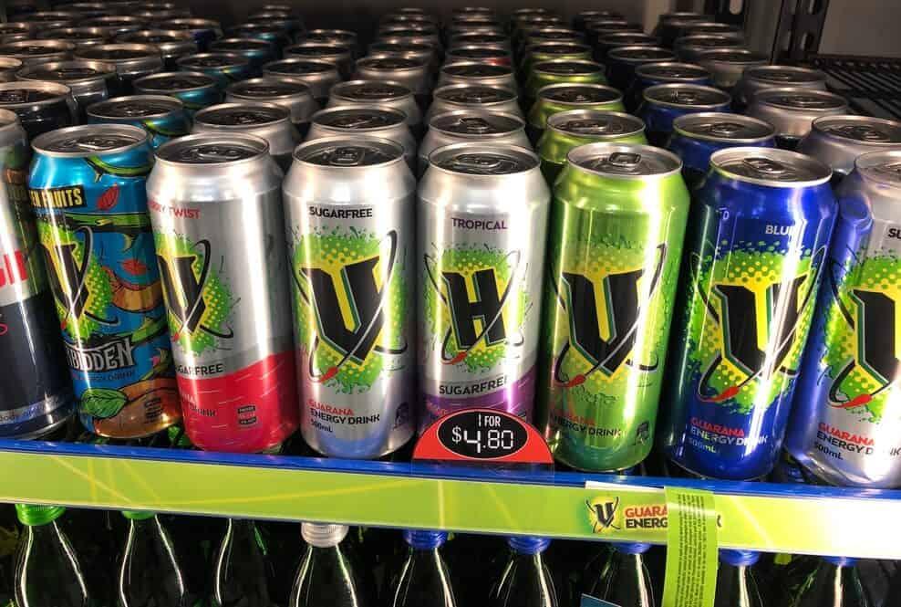 V Energy Drink cans
