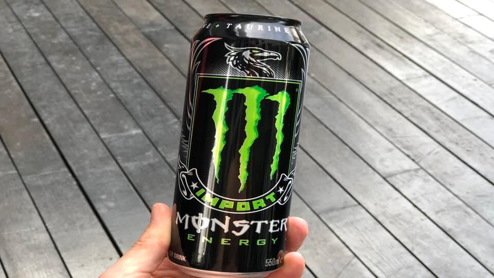 Monster Import energy drink can