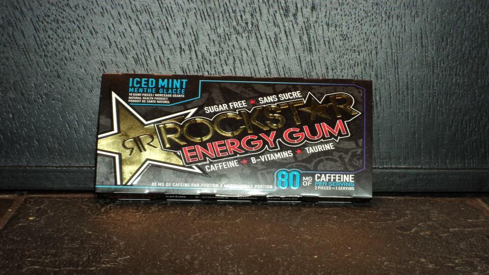 Rockstar energy gum.