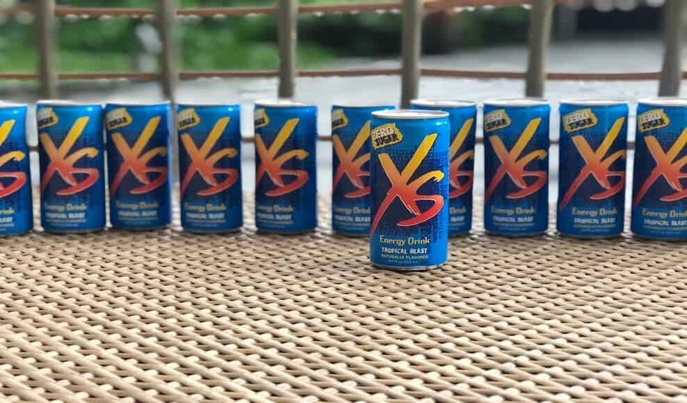 Tropical blast flavor XS energy drinks