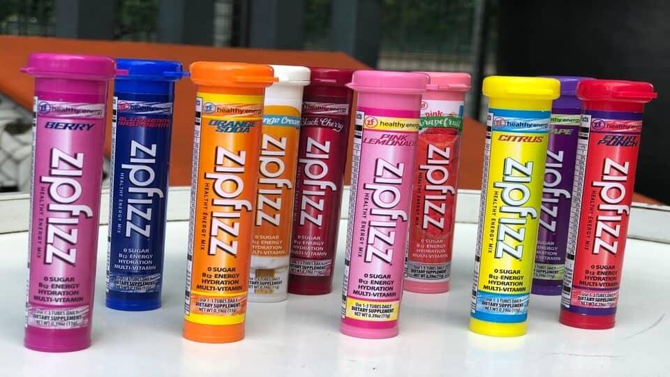 Zip Fizz flavors