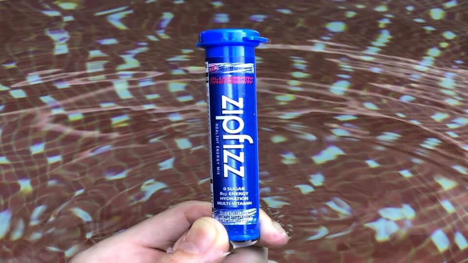 Zipfizz blue raspberry flavor.