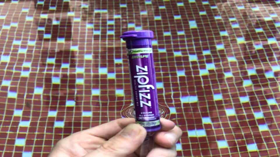 Fipfizz grape flavor tube of energy drink.