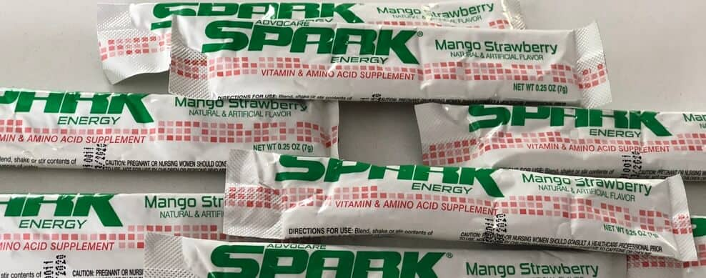 Spark drinks contain 120mg of caffeine per sachet.