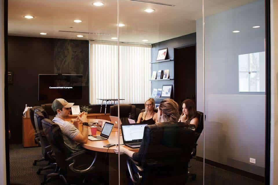 Advocare Spark marketing team meeting.