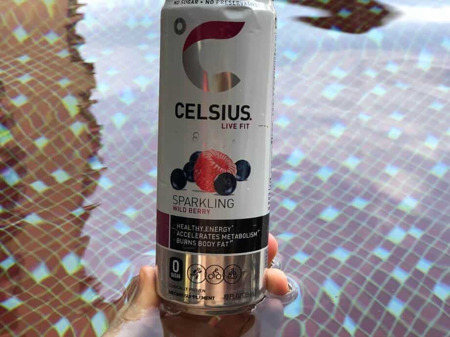 Celsius Sparkling berry tastes really nice.