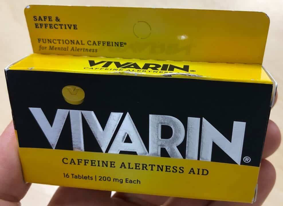 Vivarin caffeine pills vs energy drinks comparison article.