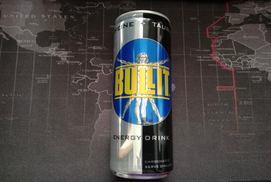 A can of Bullit energy drink.