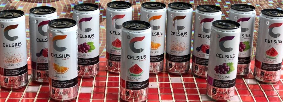 Celsius contains 200mg of caffeine.