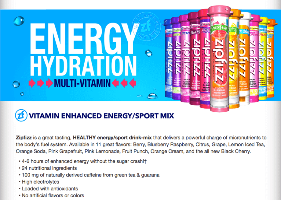 "The Zipfizz website says it contains ""high electrolytes"""