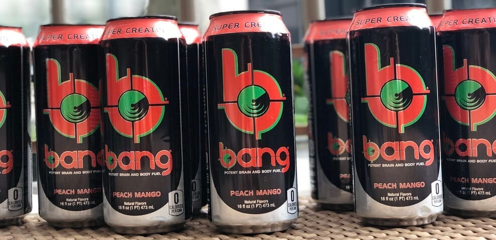 Bang energy drink cans