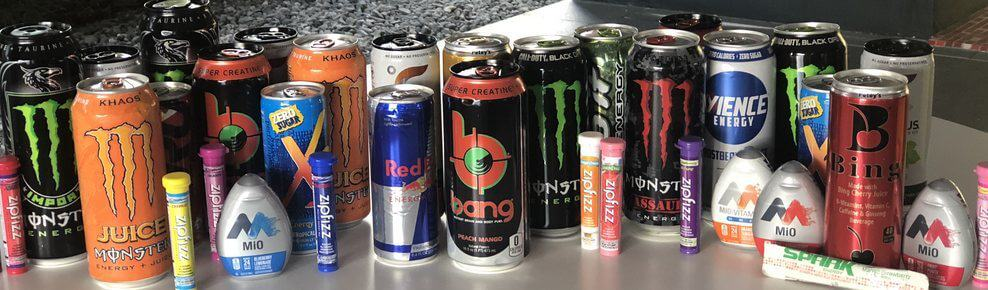 Energy drinks have many different ingredients
