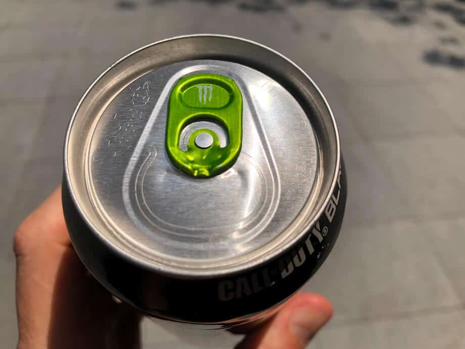 Monster Energy can top with a green ring pull