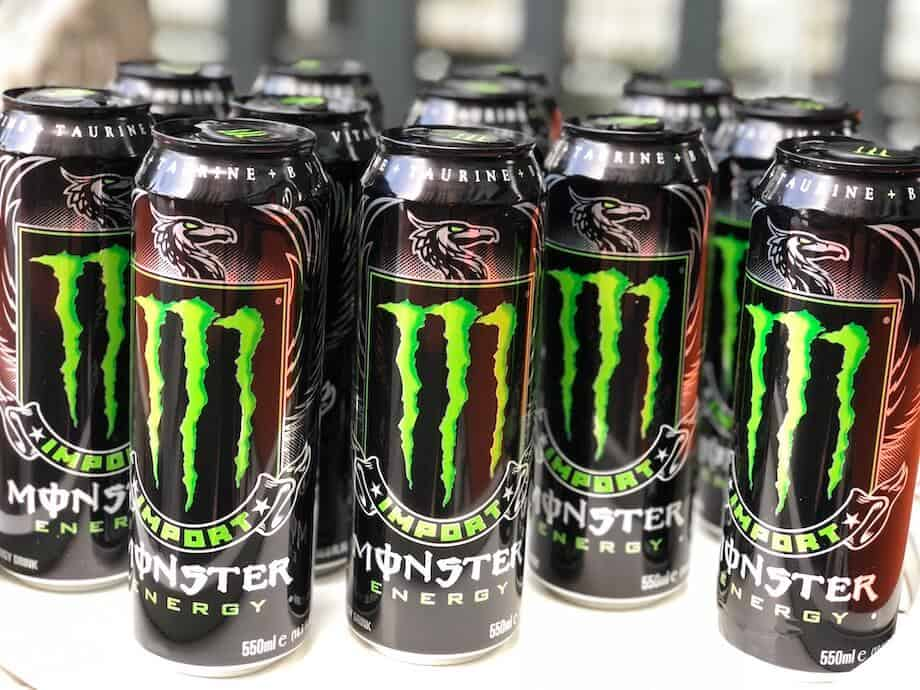 Several cans of Monster Import