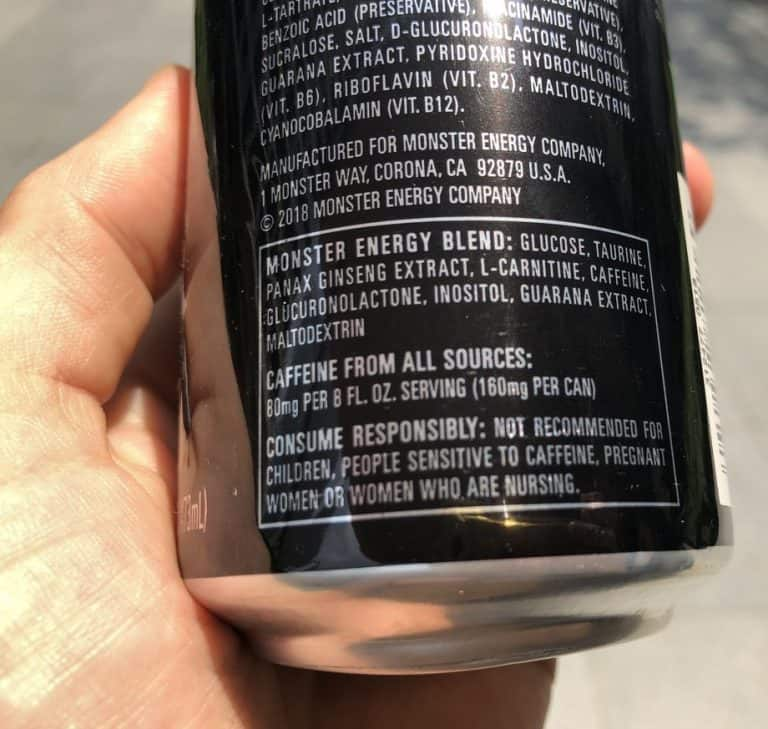 Monster Caffeine content Strongest energy drink ranked