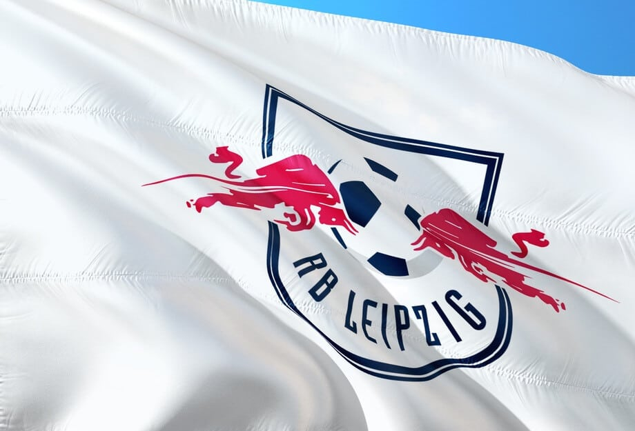 A flag of Red Bull owned football club Rb Leipzig