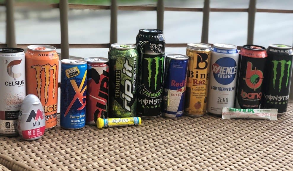 Best energy drinks for your body different types of energy drink lined together