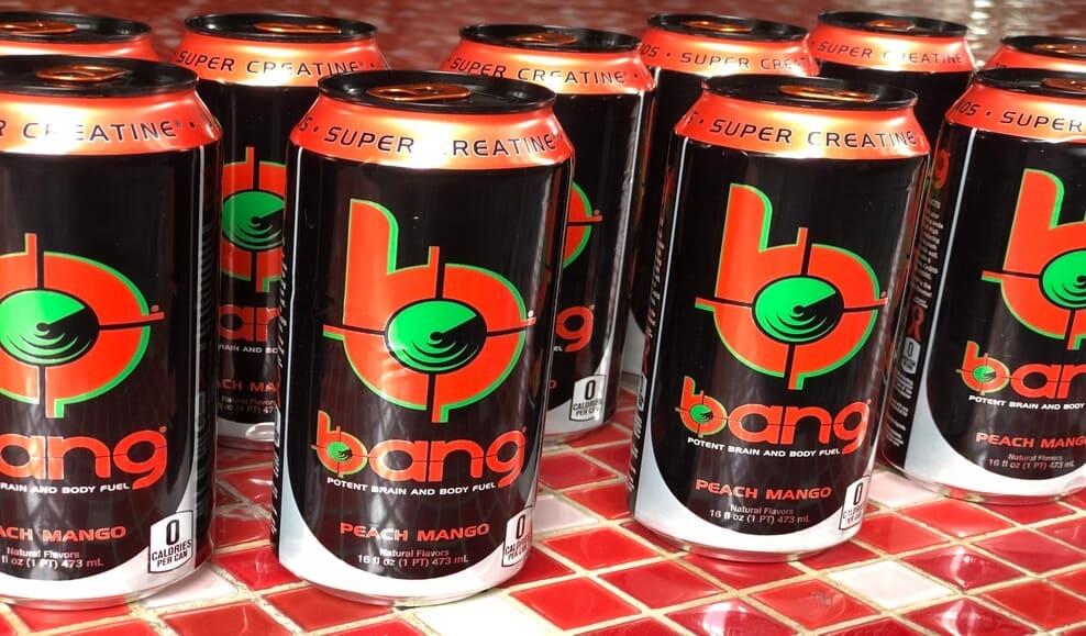 Shots of Bang energy drink