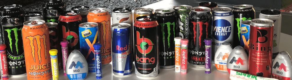Different energy drinks