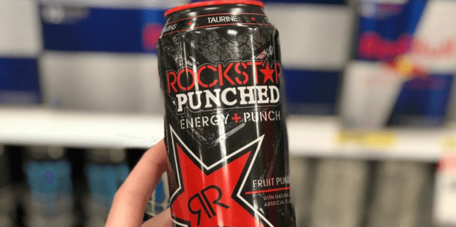 A can of Rockstar Energy drinks