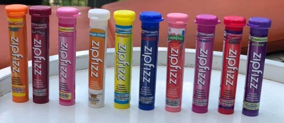 Range of favours available from Zipfizz