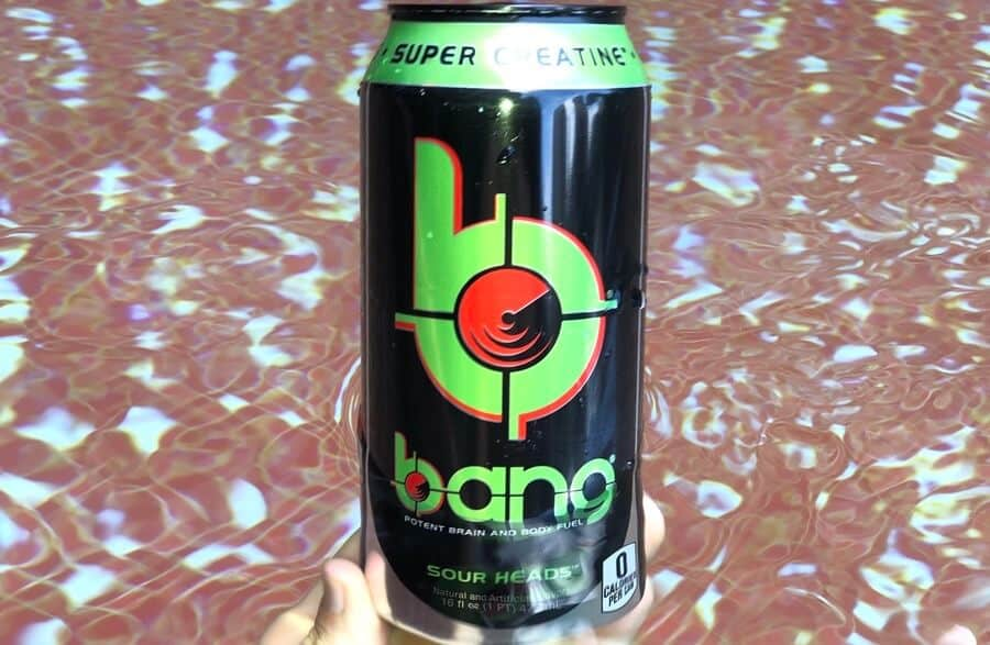 The can of Bang Sour Heads that I had tested with Chemlab to confirm the very low amount of caffeine that the first lab test showed