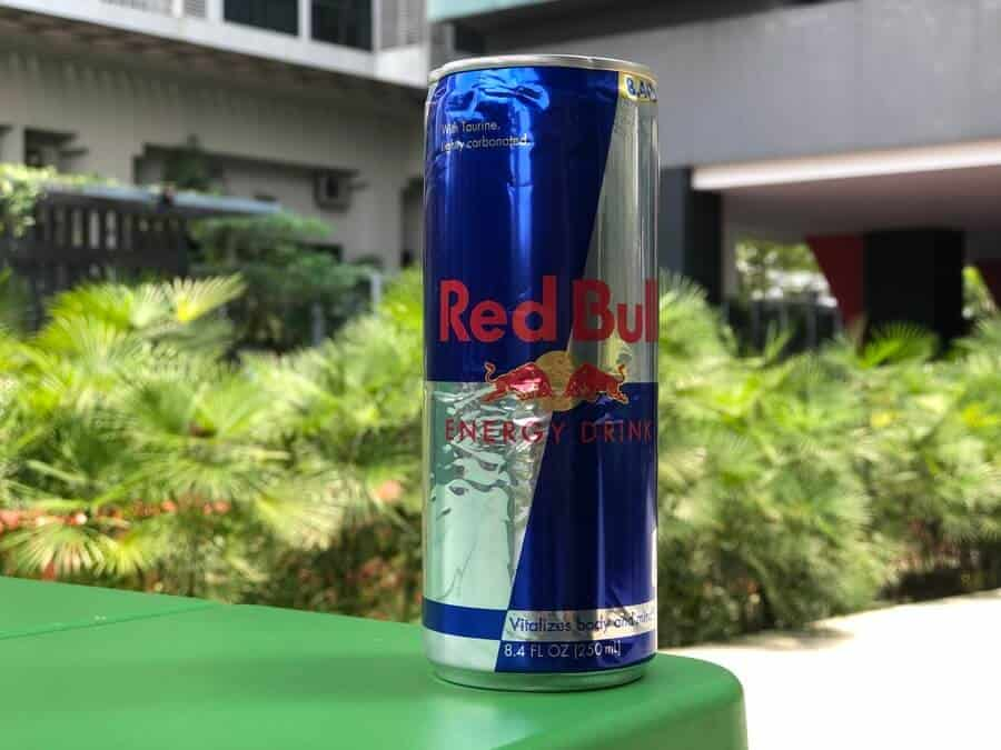 A Red Bull Can Drink on a Table