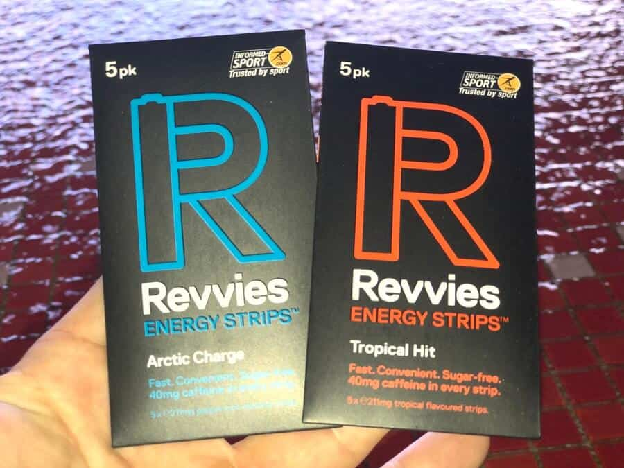 Revvies strips in a person's hand