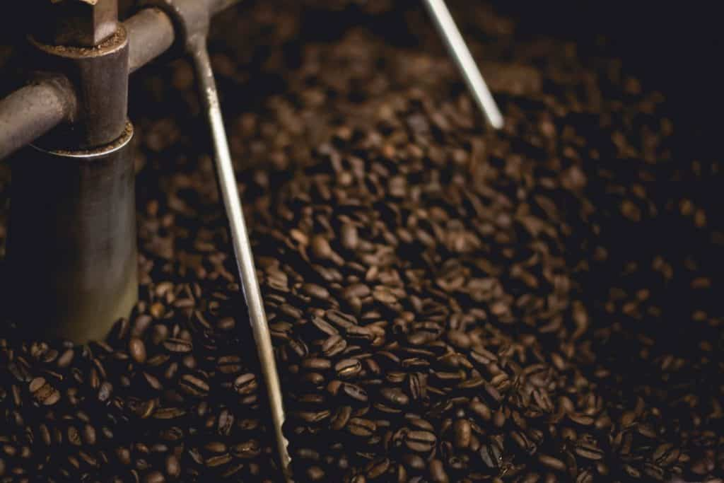 Coffee being processed.