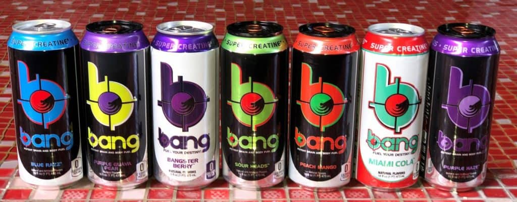 A picture of Bang Energy Drinks.