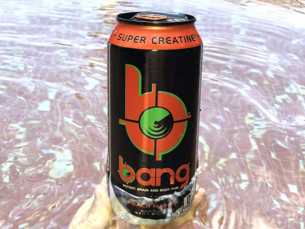 A can of Bang energy drink.