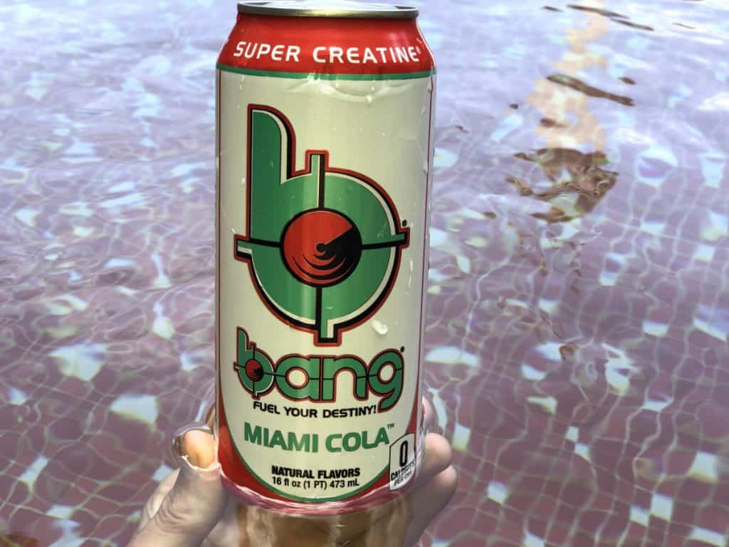 A can of Bang Energy Drink Miami Cola.