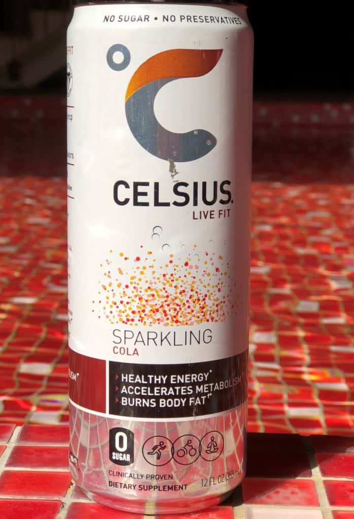 A can of Celsius Sparkling Cola