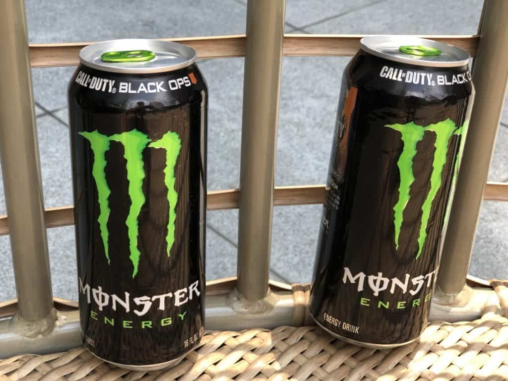 A picture of monster energy drink.
