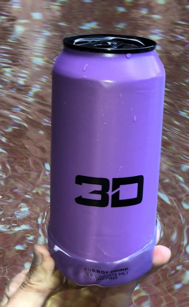 Grape flavored 3D Energy drink.