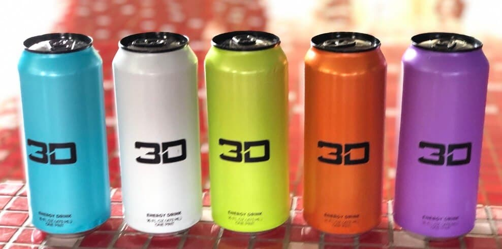 3D Energy Drink cans