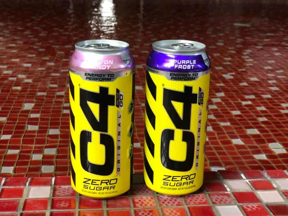 Cans of C4 energy drink