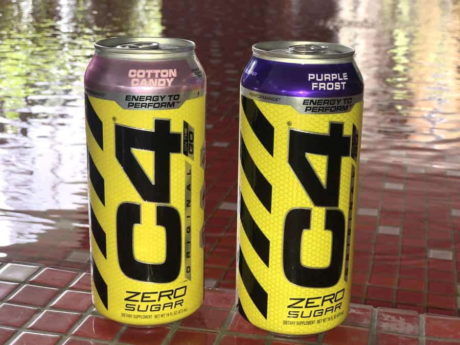Cans of C4 energy drinks
