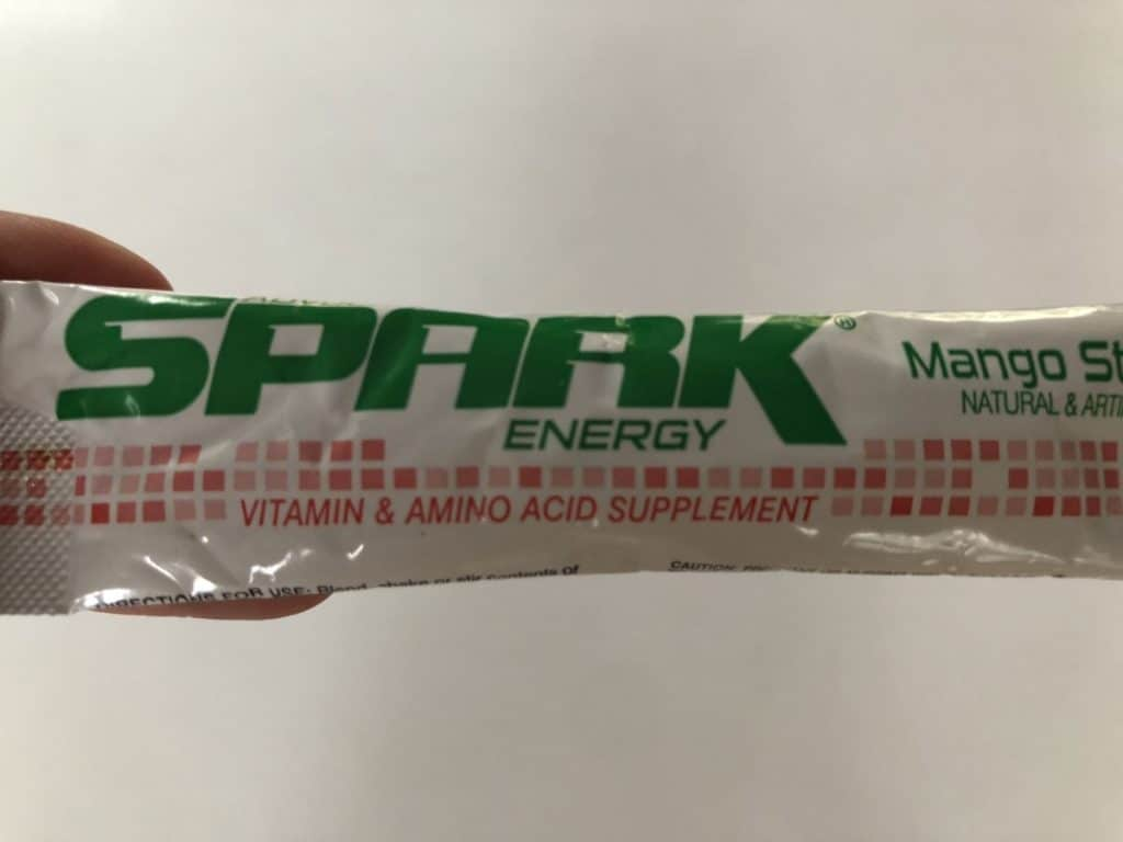 A picture of a sachet of Advocare Spark.