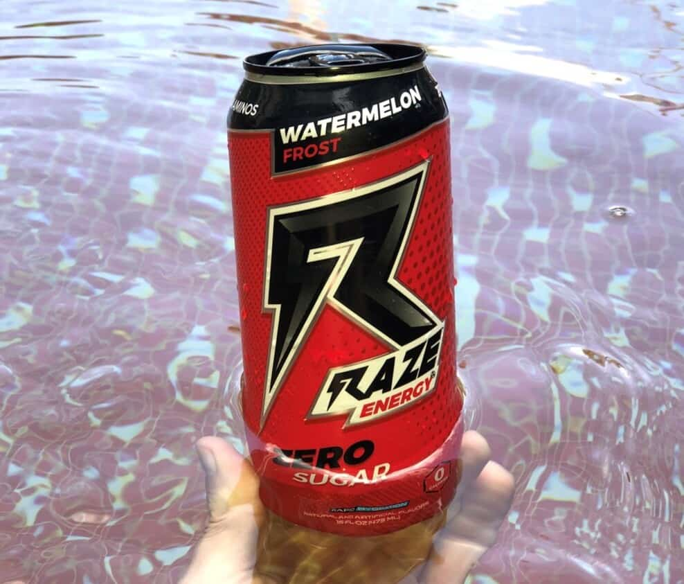 A can of Raze Energy Drinks