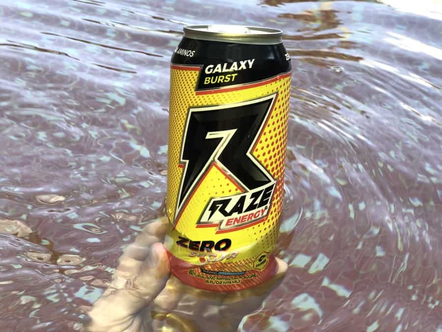 A can of Raze Energy Drinks, Galaxy Burst flavour