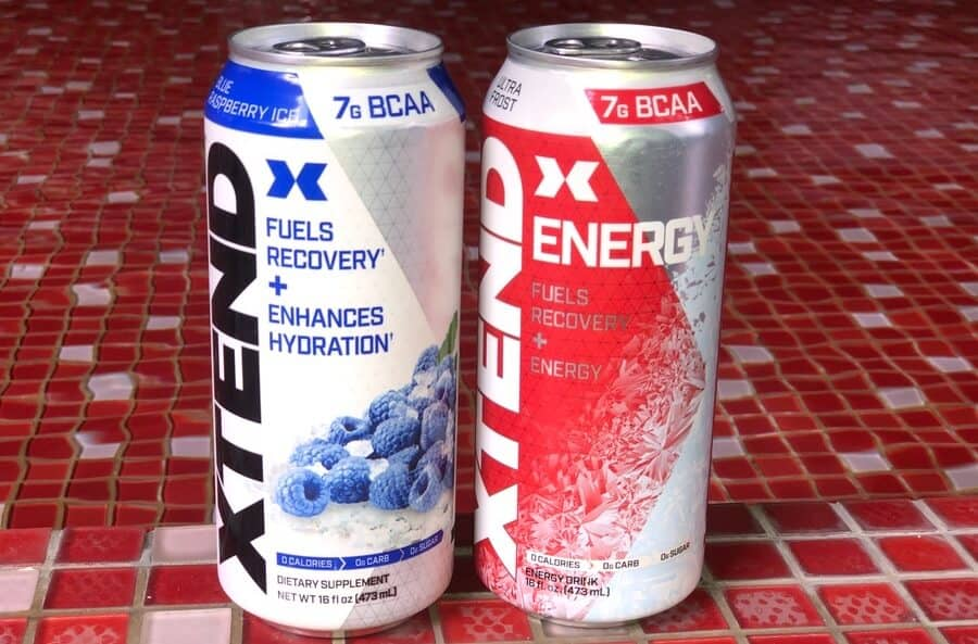 two Xtend energy drinks