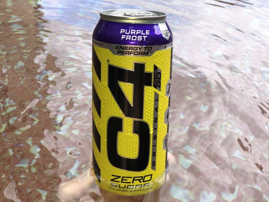 C4 energy drink can flavour purple frost