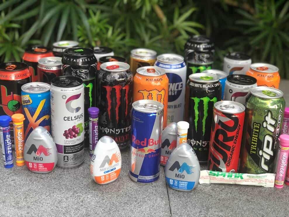 different brands in energy drinks
